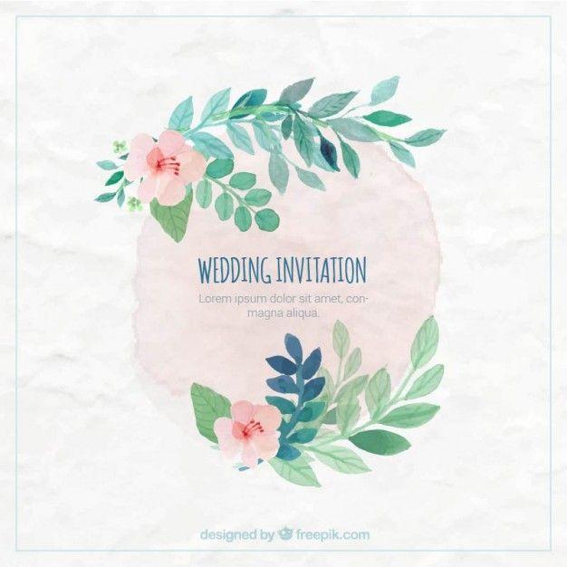 Hand painted wedding invitation