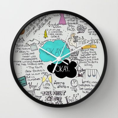 The Fault in Our Stars- John Green Wall Clock by Natasha Ramon - InStores