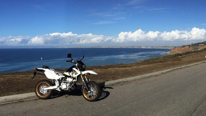 Suzuki's 2015 DR-Z 400SM Is a Street Legal Dirt Bike at Ease on the Road