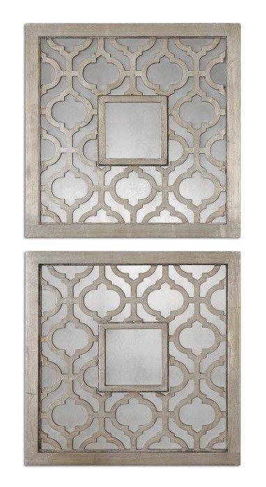 Quatrefoil Squares Set Of Two