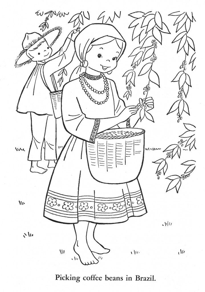 Children Of Other Lands 1954 Hawaii Alaska Mexico Brazil Argentina Peru Canada Q Is For Quilter Coloring Books Coloring Pages Flag Coloring Pages