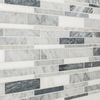 Shop Elida Ceramica Bianca Blended Linear Mosaic Marble Wall Tile (Common: 12-in x 12-in; Actual: 12-in x 12-in) at Lowes.com