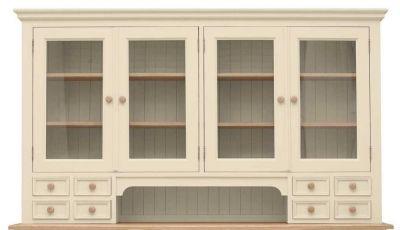 TFW Mottisfont Cream Glazed Dresser Top - Large 4 Door 8 Drawer