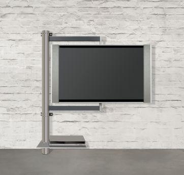 TV-Halter solution art112 schwenkbar - Wissmann Raumobjekte Mit dem modernen TV Wandhalter art112 hängt der Fernseher sehr flach an der Wand. Entsprechend der gesamten Kollektion von Wissmann, lässt sich auch bei der TV Wandhalterung art128 der ...