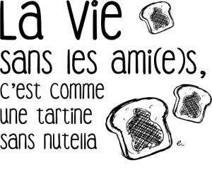 personnaliser tee shirt La vie sans les ami(e)s