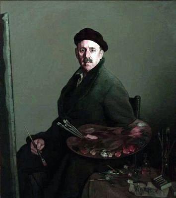 Spanish Painter Ignacio Zuloaga (1870-1945) - Self Portrait of 'Zuloaga'.