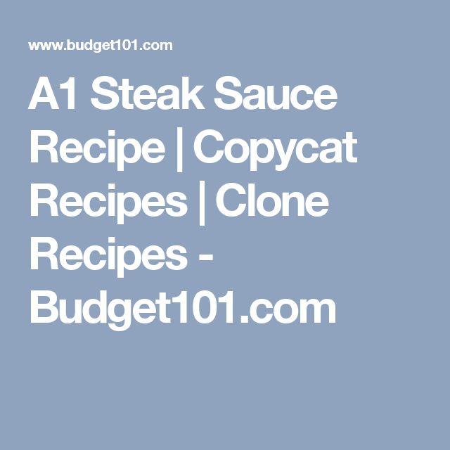 A1 Steak Sauce Recipe | Copycat Recipes | Clone Recipes - Budget101.com