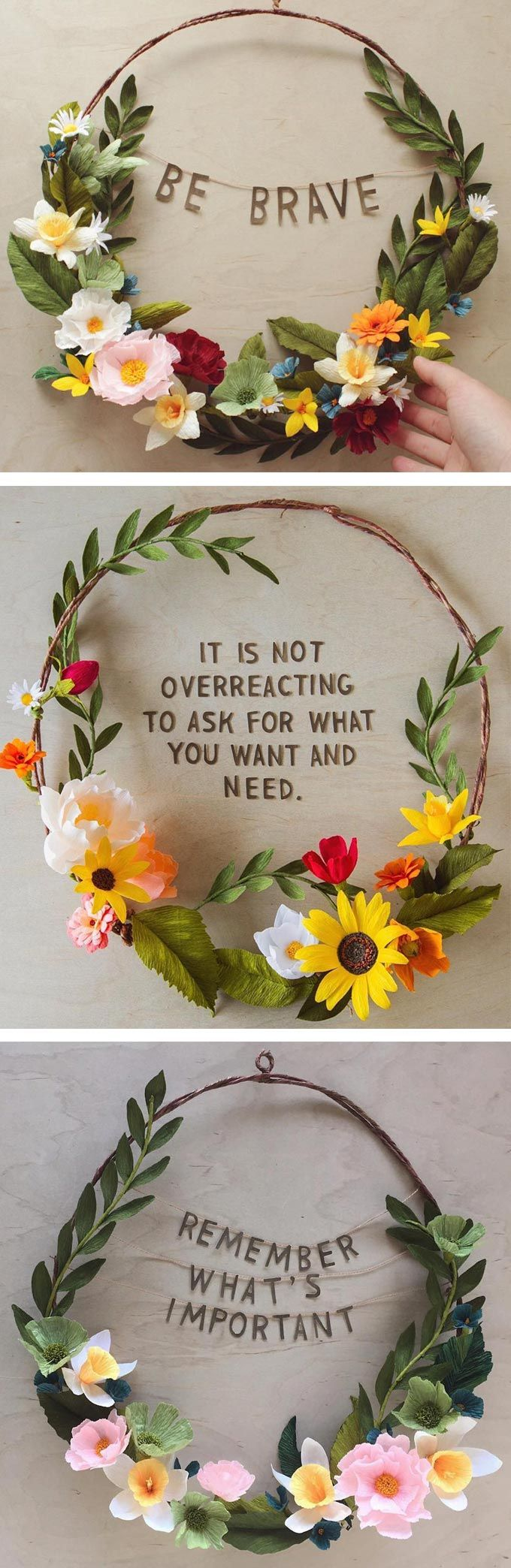 Grace D. Chin empowering floral wreaths