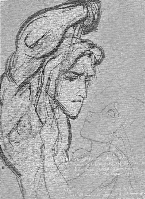 I just love the intense expression on his face in this drawing. It just... pulls at my heart. (Tarzan)