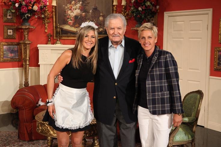 Jennifer Aniston and her dad team up to conquer Ellen