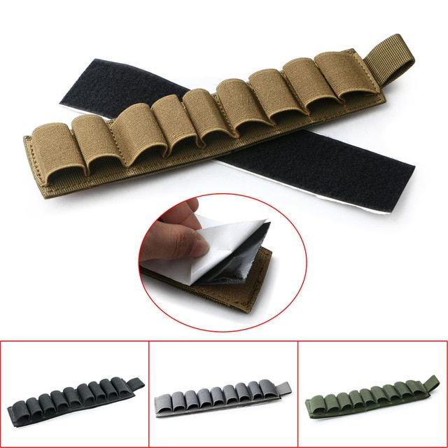 9 Rounds Shell Holder Pouch Carrier Rifle ButtStock Cartridge Ammo Pouch