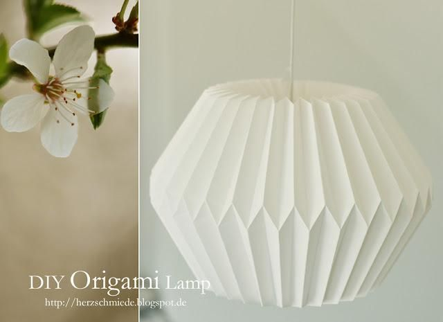 DIY Origami: DIY Origami Lamp instructions : herzschmiede.blogspot.nl