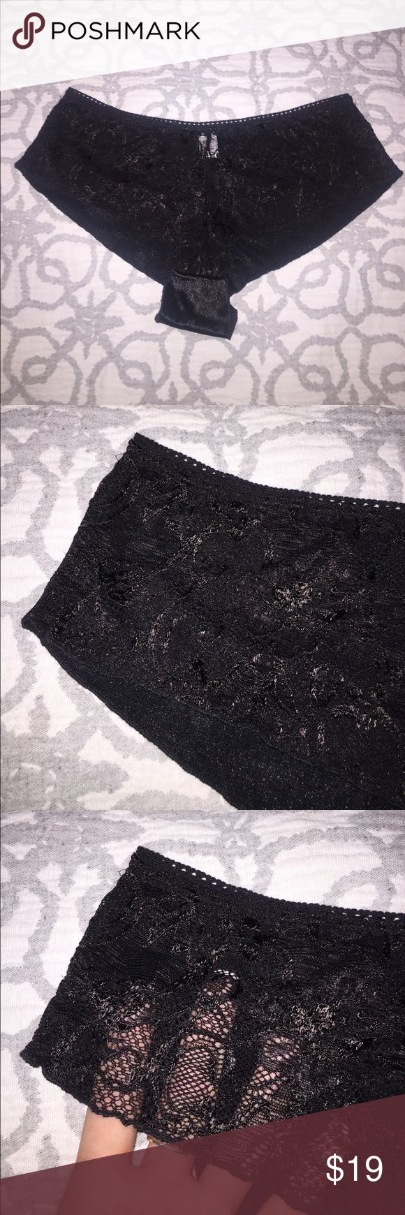 Lace Front with Stretch Satin Back Hotshort ✨New✨ Lace Front with Stretch Satin Back Hotshort ✨New without tags✨ Beautiful Lace and super soft luxurious stretch Satin. ❤️ Intimates & Sleepwear Panties