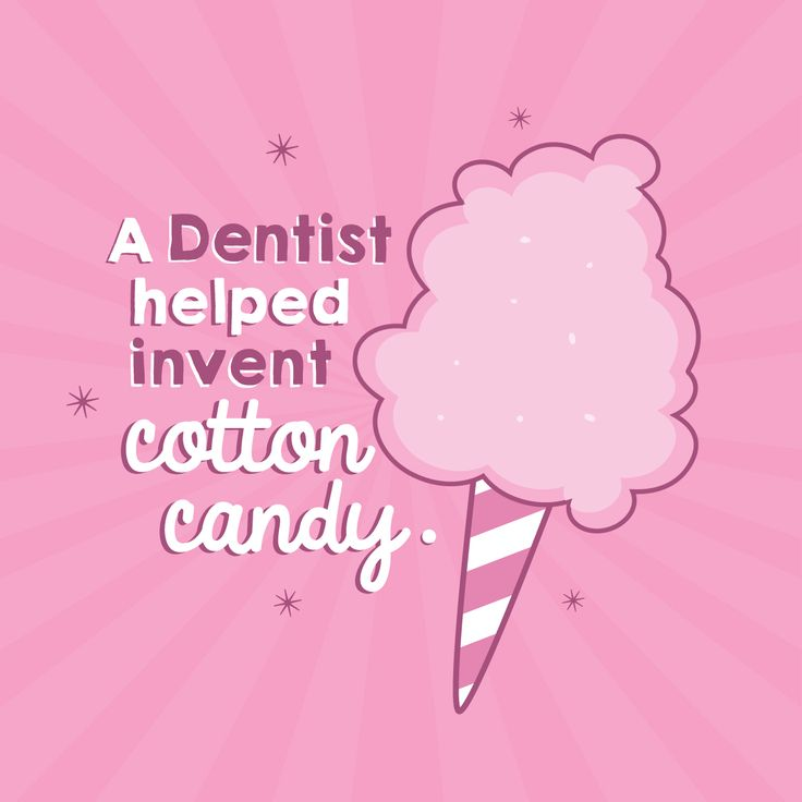 "DID YOU KNOW that a dentist co-invented cotton candy? It used to be called ""Fairy Floss!"""