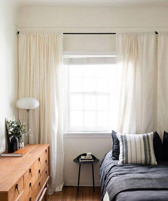 Pair Of Cream Linen Curtains Ivory Cream Drapes Window Etsy Home Decor Bedroom Small Bedroom Home