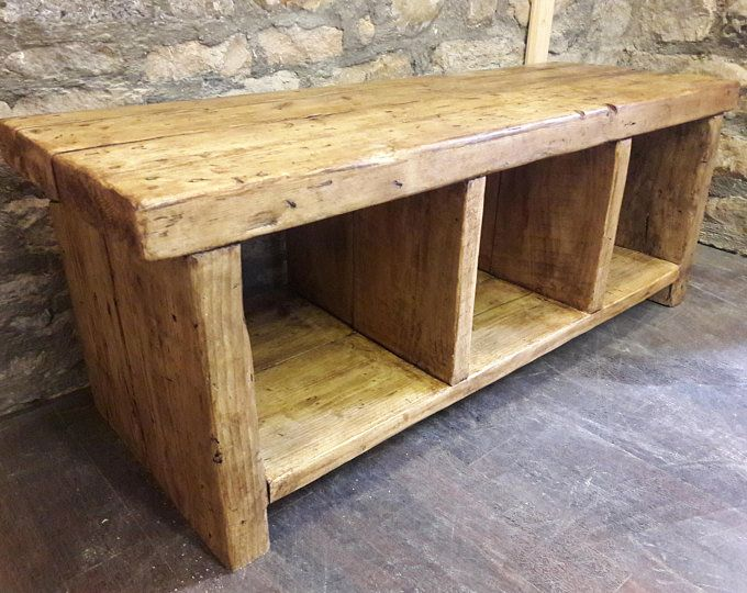 Reclaimed Wood Hallway Bench Hall Storage Box Seat Shoe Etsy Rustic Storage Bench Reclaimed Wood Benches Rustic Reclaimed Wood