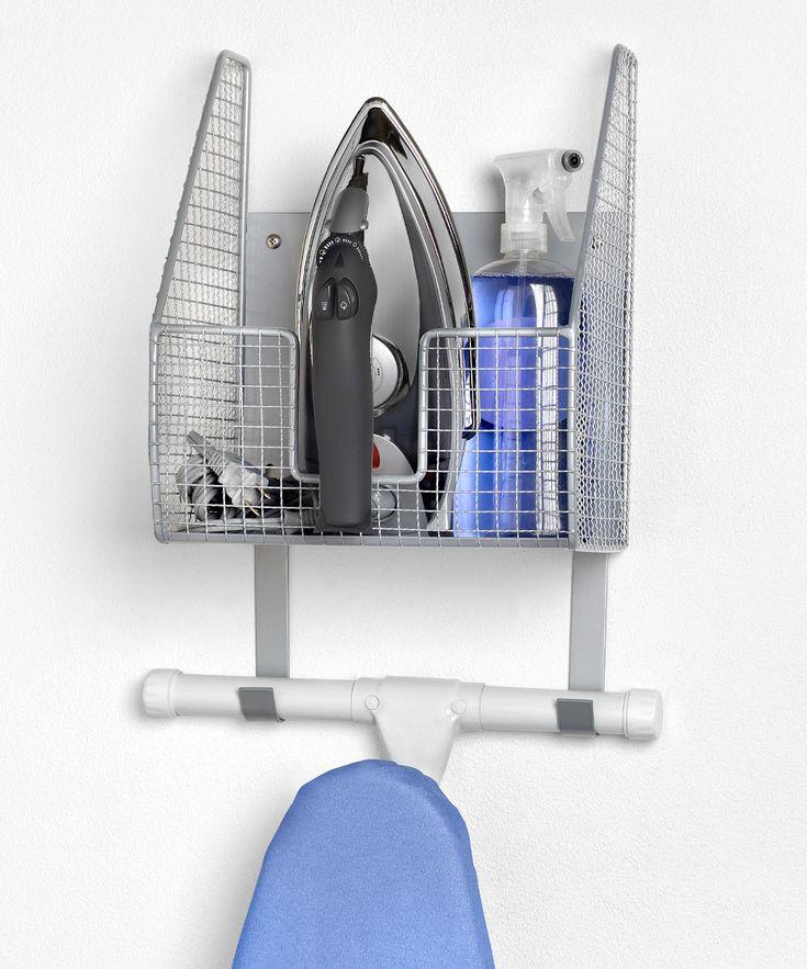 spectrum wall mount basket ironing board holder. Black Bedroom Furniture Sets. Home Design Ideas