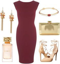 Burgundy dress - perfect for a fall wedding outfit                                                                                                                                                                                 More