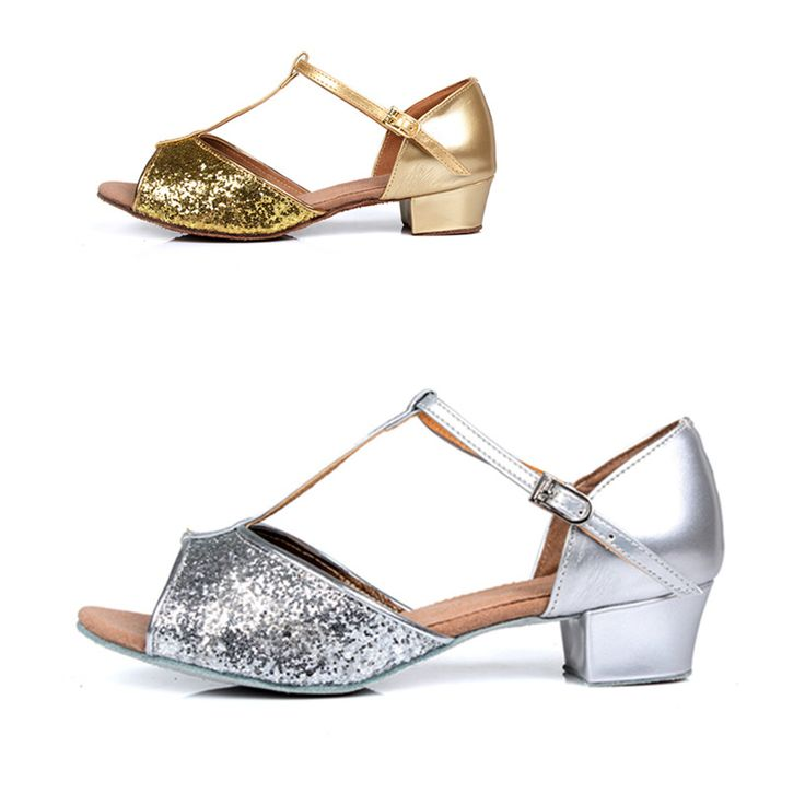 Professional Gold And Silver Latin Dance Shoes Women Girls Salsa Ballroom Shoes Zapatos De Baile Latino Mujer WZJ Free Shipping