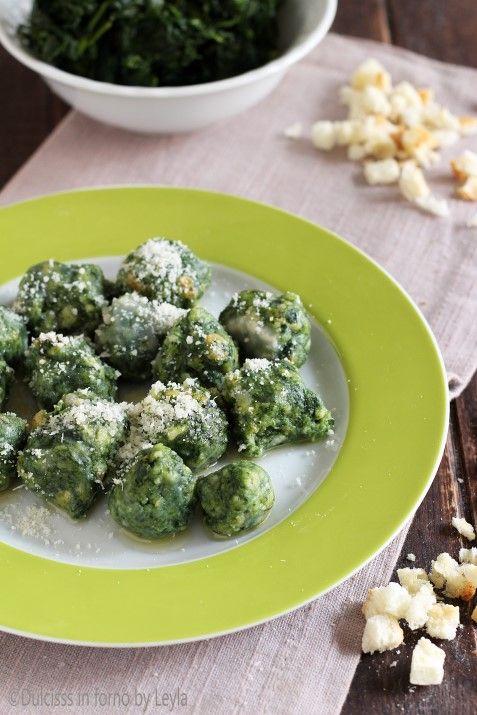 Strangolapreti: gnocchetti agli spinaci trentini Dulcisss in forno by Leyla