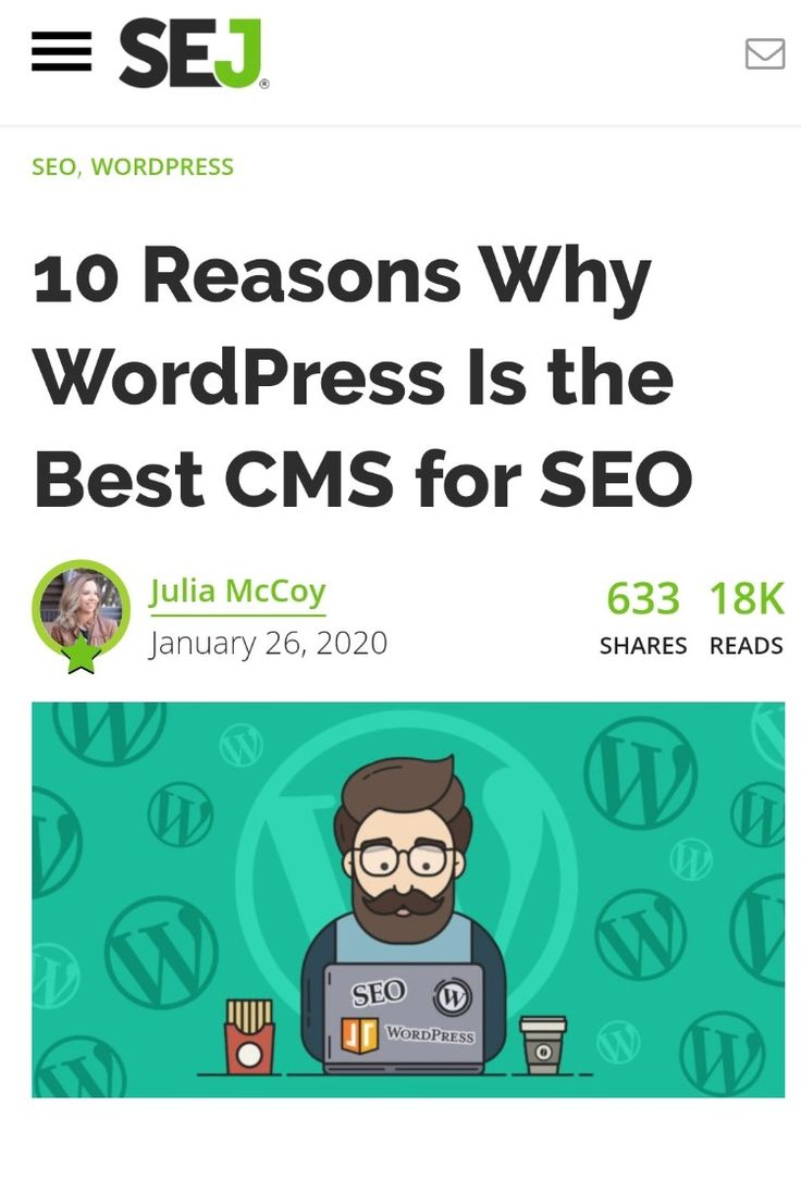 10 Reasons Why Wordpress Is The Best Cms For Seo In 2020 Search Engine Search Engine Optimization Seo Engineering