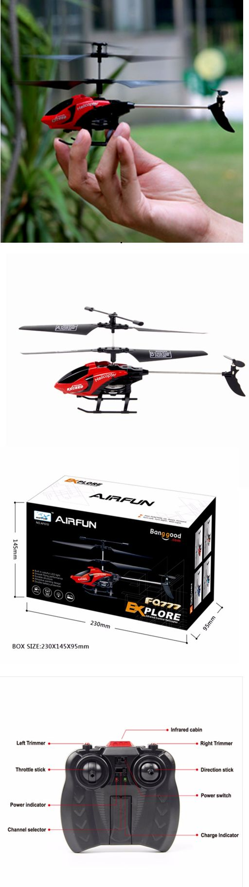 Original rc helicopter fq777 610 3 5ch 2 4ghz mode 2 rtf gyro remote control