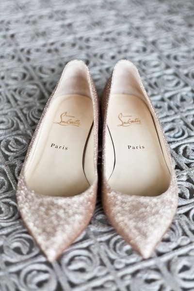 Louboutin flats , perfect wedding shoes ahh :)