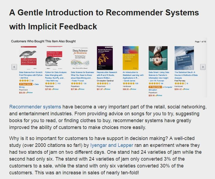 A Gentle Introduction to Recommender Systems with Implicit Feedback – Jesse Steinweg-Woods, Ph.D. – Data Scientist