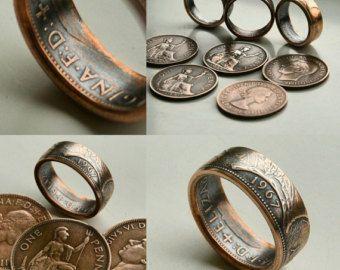 Stirling canadien argent antique bague argent de 50 cents