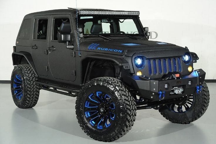 Very Light Blue Jeep Wrangler