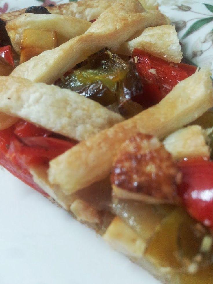 Tarta de pimientos y tofu ahumado | Gastrocenicienta