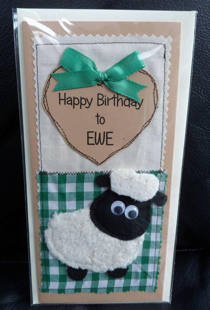 fabric birthday card