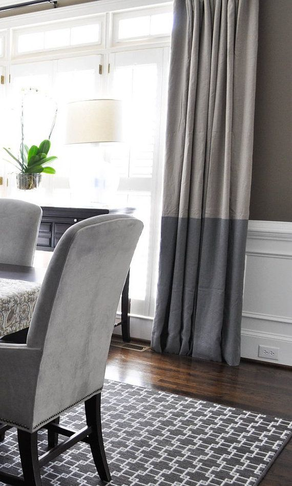 Love this room and drapes!   96L x 46W Color Block Drapery Panel  Pick Your by MarthaAndAsh, $155.00