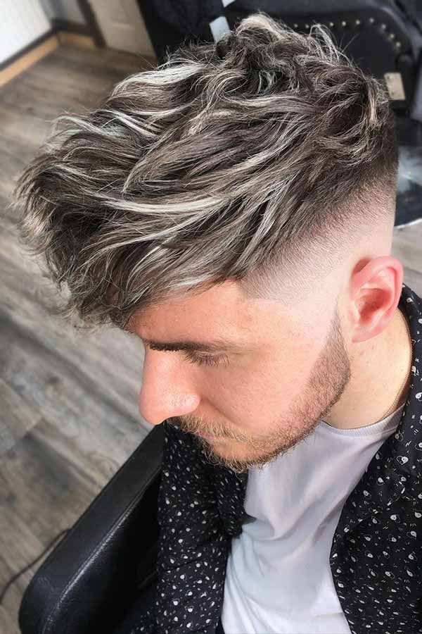 Black Hair With Blonde Highlights Guys Style Beige Blonde Balayage Blonde Balayage Highlights Men Hair Color