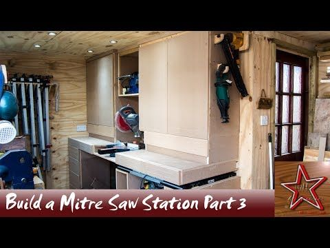 My floating mitre saw station