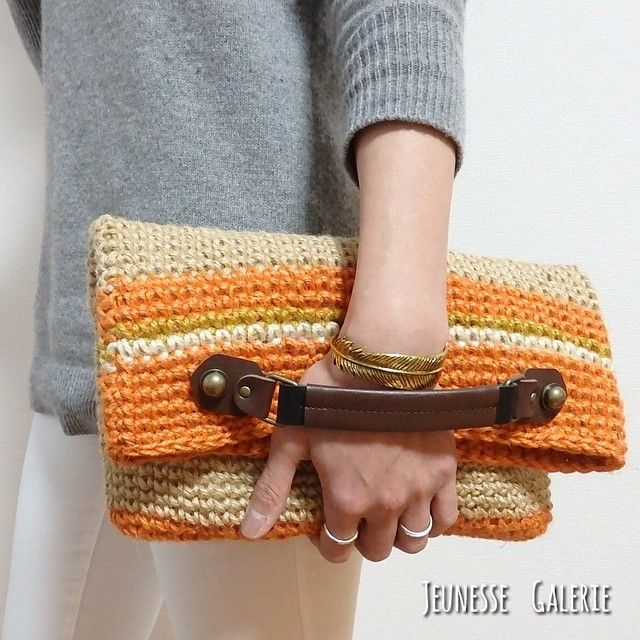 crochet clutch bag ༺✿ƬⱤღ  https://www.pinterest.com/teretegui/✿༻