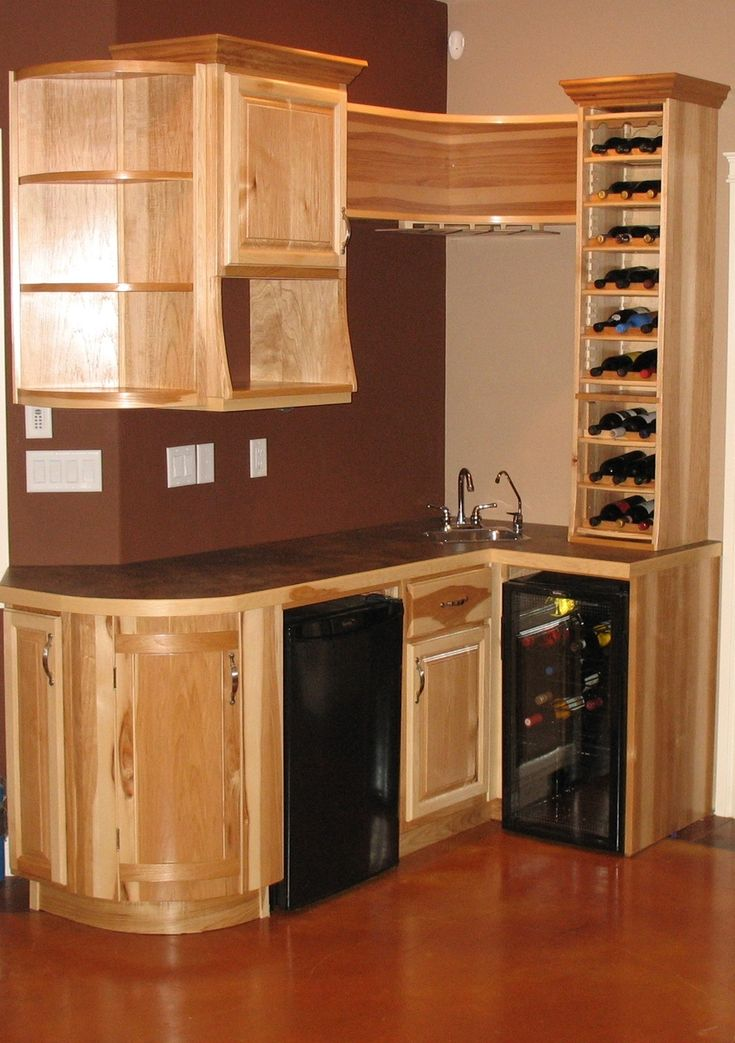 Find This Pin And More On Future Home This Hickory Wet Bar Was Designed