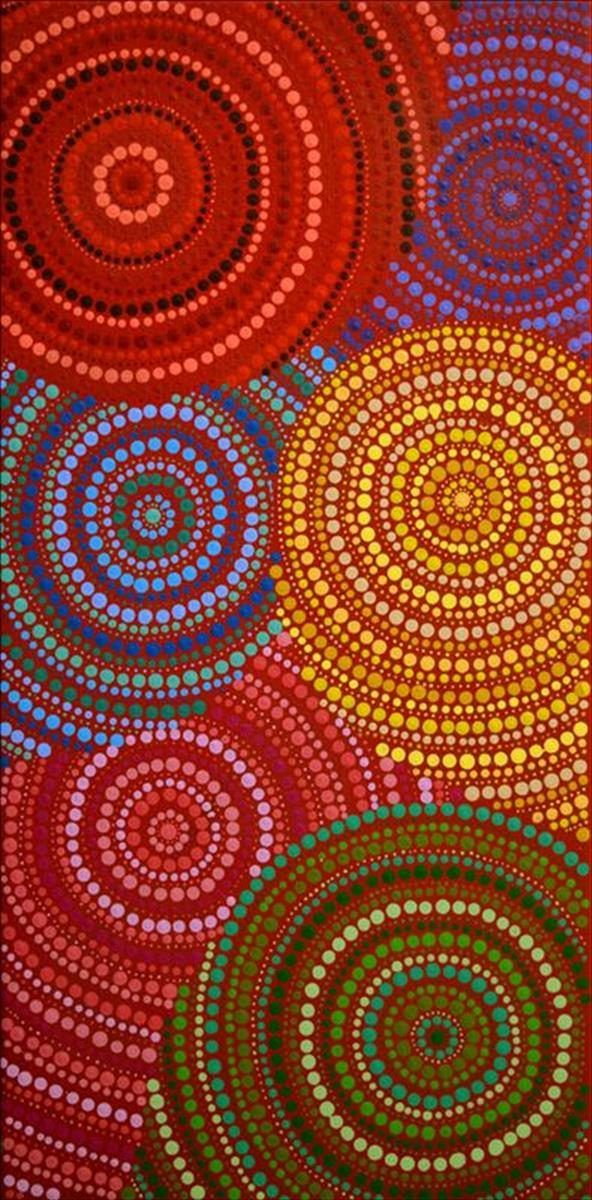 Watiya-warnu Jukurrpa (Seed Dreaming) by Charmaine Napangardi Granites