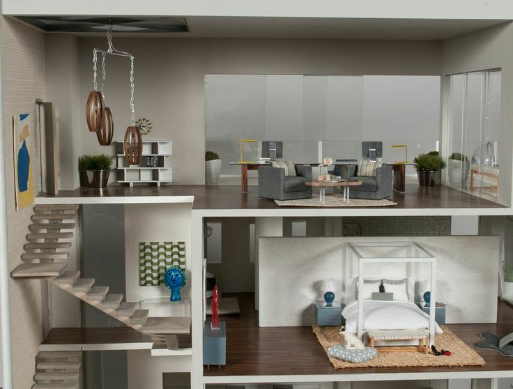 268 best images about modern doll house on pinterest for Beach house design jeffrey strnad