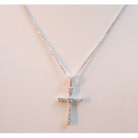 Collana girocollo punto luce donna Giorgio Visconti in oro bianco 18 carati con diamante DAMIATAGIOIELLI.COM