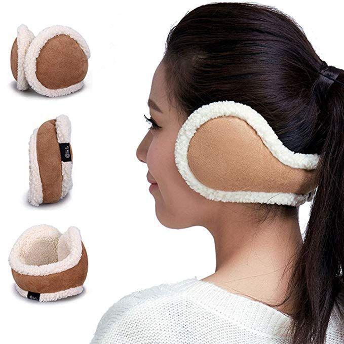 Women Ear Warmers Foldable Cold Winter Adjustable EarMuffs Girls Warm  Outdoor Ear Muffs (Brown)   Ear warmers, Women's earmuffs, Earmuffs