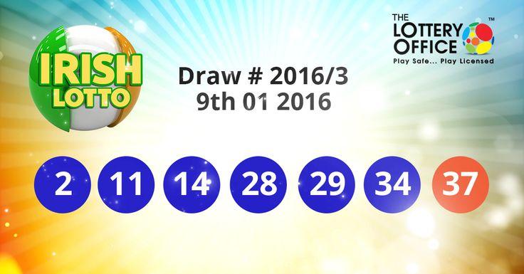 Irish Lotto winning numbers results are here. Next Jackpot: €10 million #lotto #lottery #loteria #LotteryResults #LotteryOffice