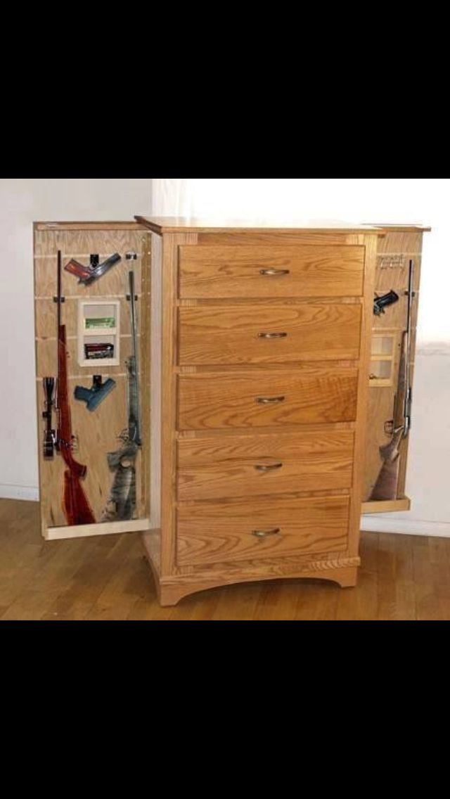 40 best diy gun safe images on pinterest woodworking for Diy hidden compartment