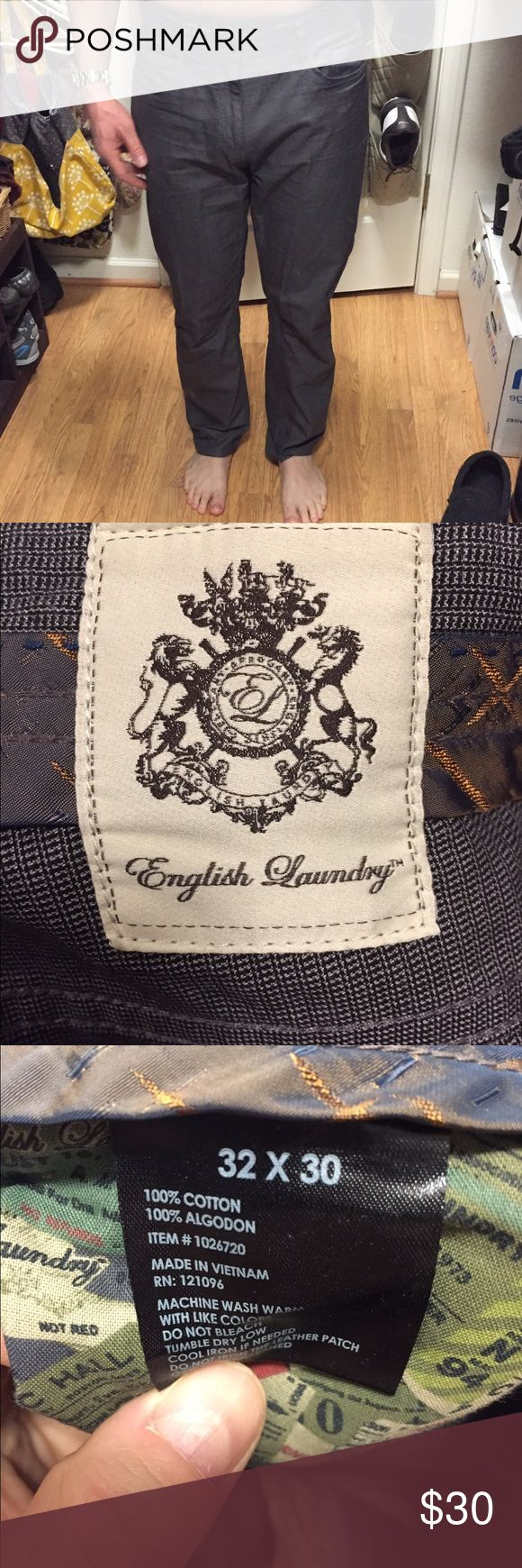 English laundry chino 32x30 Like new, 32x30, grey chino pant English Laundry Pants Chinos & Khakis