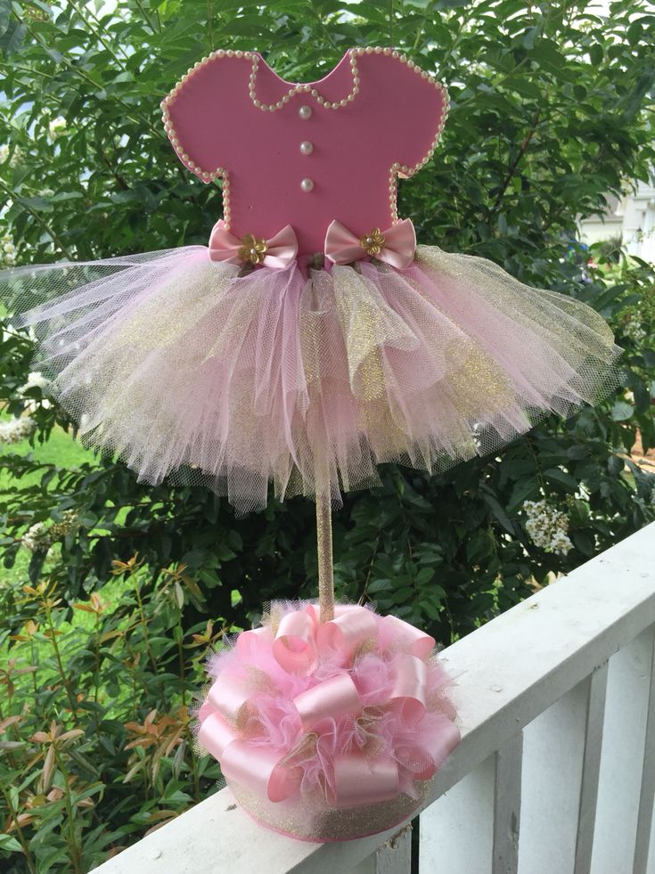 Instead of the dress the # 1 with a small crown on the top, keep the tutu on the bottom