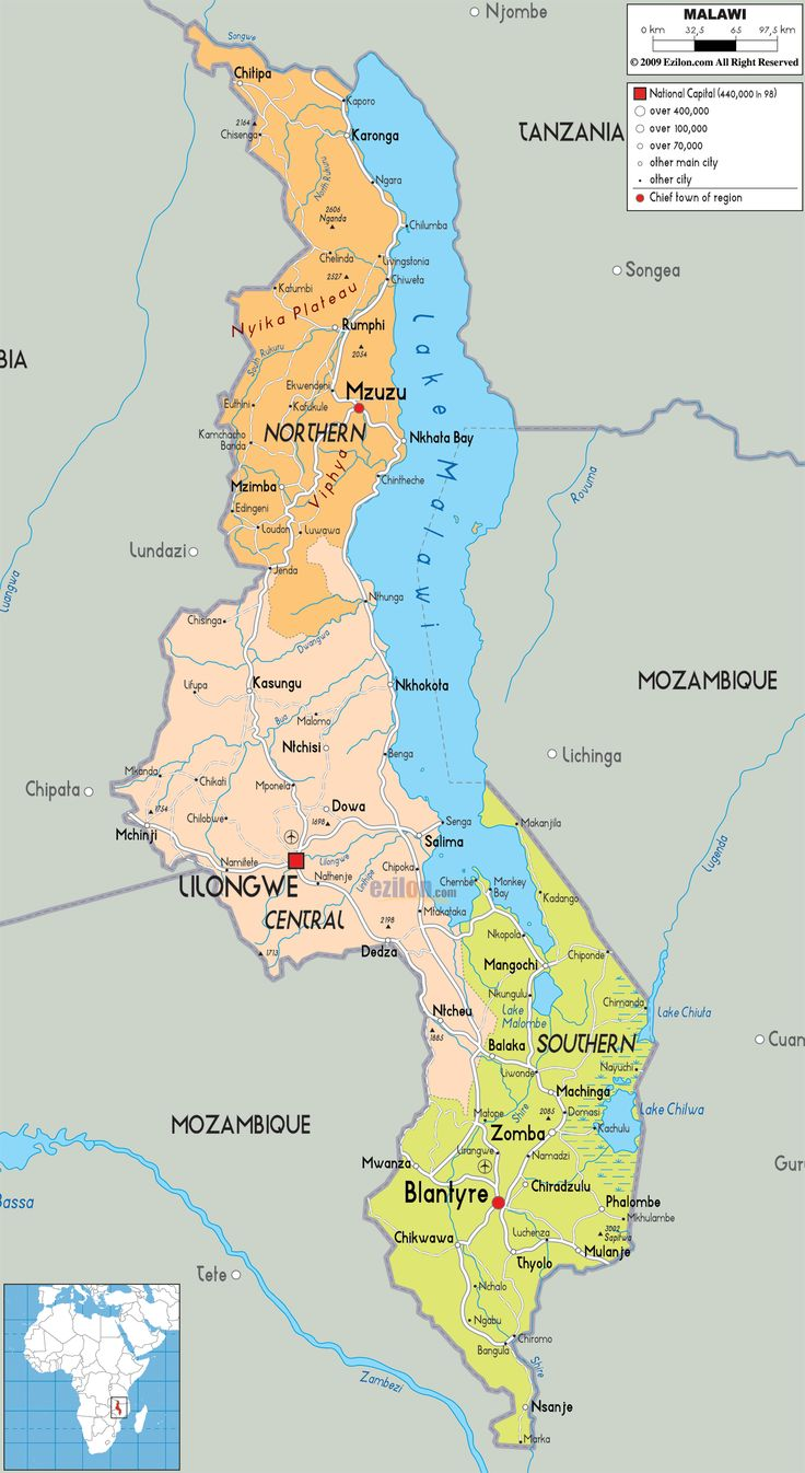 Best Malawi Maps Africa Maps That Include Malawi Images On - Malawi map