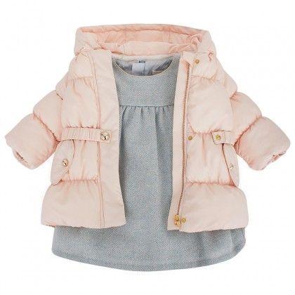 Pale Pink Puffa Coat