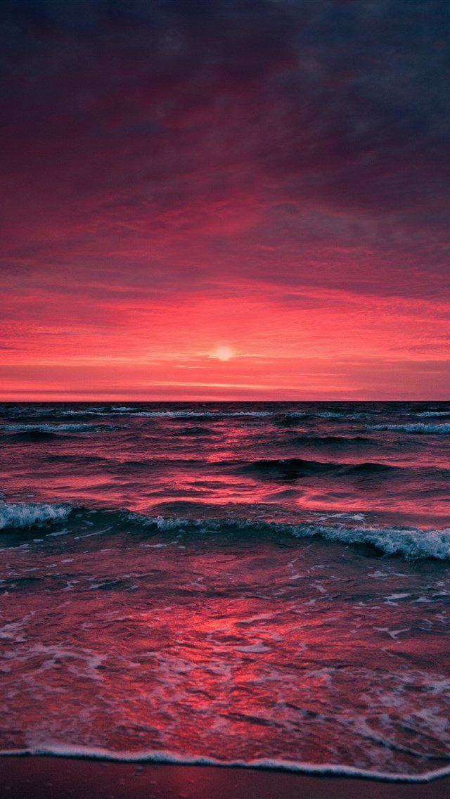 Phone Wallpaper Landscape Nature Sea Sunset Sunset Wallpaper Nature Backgrounds Iphone Iphone Backgrounds Nature