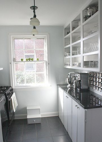 14 best Small Kitchens images on Pinterest | Kitchens, Small ... Open Shelving Galley Kitchen Designs Ideas on white galley kitchen design ideas, stove kitchen design ideas, open galley kitchen remodel, walk in closet design ideas,