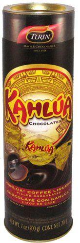 Kahlua Chocolates Tube, 7-ounces Turin Master Chocolatier http://www.amazon.com/dp/B006RK7OAG/ref=cm_sw_r_pi_dp_WwKAwb1A1VPT7